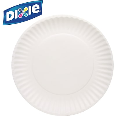Dixie 9 White Paper Plates, 100/Pack (WNP910100)