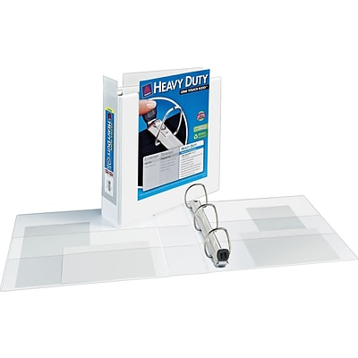Avery Extra-Wide Heavy-Duty View Binder with 2 One Touch EZD Ring, White (1320)