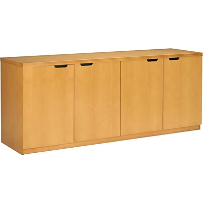 Mayline® Luminary Collection in Maple; 4-Door Credenza
