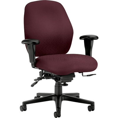 HON® 7800 Series Task Chairs, Mid Back, Burgundy