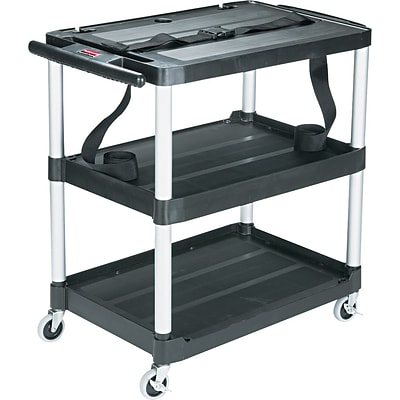 Rubbermaid® Media Master™ AV Carts, 33, 3-Open Shelves