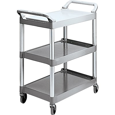 Rubbermaid® Commercial Plastic Utility Carts Brushed Aluminum, Plastic Platinum