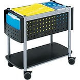 Safco® Scoot™ Black Open Top File Cart