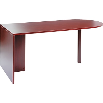 Alera™ Valencia Series U and L Groupings in Mahogany, D-Top Desk Shell