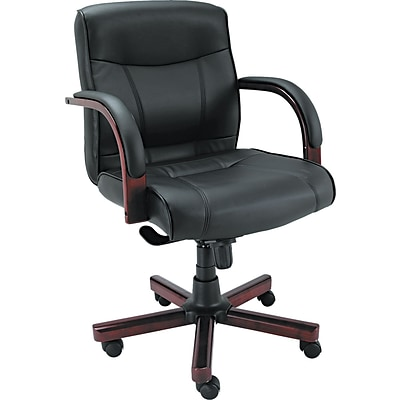 Alera® Madaris Series Swivel/Tilt Leather Executive Chairs, Mid Back