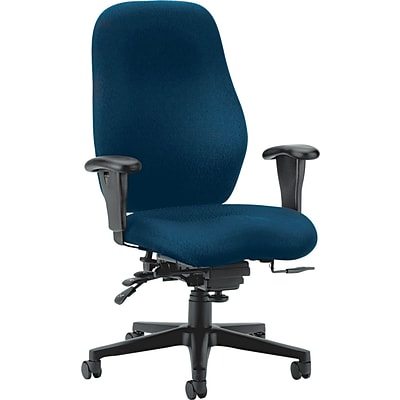 HON® 7800 Series Task Chairs, High-Back, High Performance, Navy