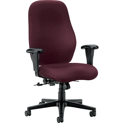 HON® 7800 Series Task Chairs, High Back, Burgundy