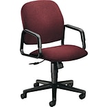 HON® Solutions Seating® High-Back Fabric Swivel Chair, Burgundy