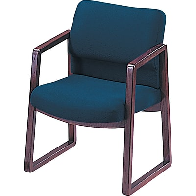 HON® 2400 Hardwood Guest Chair, Blue (H2403NAB90)