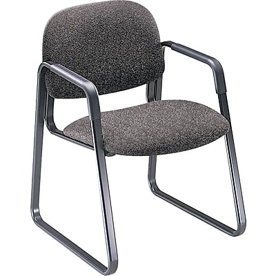 HON® Solutions - 4000 Series Sled Base Guest/Side Chair, Gray Fabric, Seat: 20W x 18 1/4D, Back: 21W x 15H