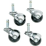 Superball Casters; Bright Chrome Finish