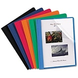 Oxford Oxford Clear Front Report Covers, Assorted, 8 1/2 x 11, 25/Bx