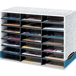 Dove Grey Ltr 21 Compartment Lit. Organizer