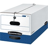 BANKERS BOX® Liberty® Heavy Duty Storage Boxes, Legal, White/Blue, 12/Carton