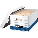 Bankers Box Stor/File Medium-Duty FastFold Storage Boxes with Lift-Off Lid, Legal, 4/Ct (0070205)