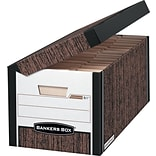 Bankers Box Systematic Medium-Duty FastFold Storage Boxes with Attached Flip-Top Lid, Letter/Legal,