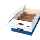 BANKERS BOX® STOR/FILE™ DIVIDERBOX™ Storage Boxes, Legal, Stacking Strength 700 lb., White/Blue, 10