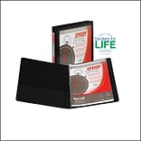 Samsill Speedy Spine Round Ring View Binder, Black, 125-Sheet Capacity, 1/2 (Ring Diameter)