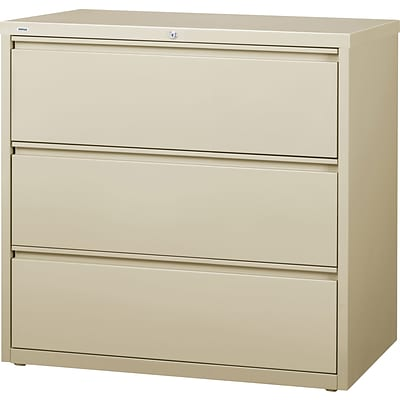 HL8000 3-Drawer Commercial Lateral File Cabinet, Putty, 42 Wide (18761)