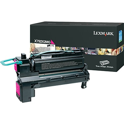 Lexmark™ Magenta Toner Cartridge, X792X2MG, Extra High Yield