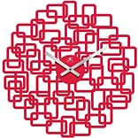 19 Dia. Mod. Red Resin Open Face Wall Clock