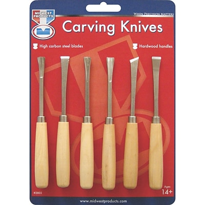 Midwest Products Wood Carving Set, 6/Pkg
