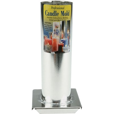 Yaley Professional Candle Mold Metal Cylinder, 2 x 6.5