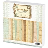 Prima Flowers Ledger Paper Stack 12X12 48 Sheets-16 Designs/3 Each