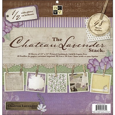 Diecuts With A View Chateau Lavender Paper Stack 12X12-48 Sheets