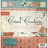 Diecuts With A View Coral Couture Paper Stack 12X12-48 Sheets