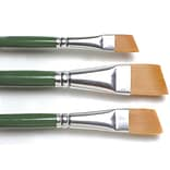 Plaid:Craft One Stroke Brush Set, Angle - 3/8, 5/8, 3/4