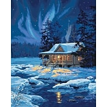 Dimensions Paint By Number Kit, 16 x 20, Moonlit Cabin