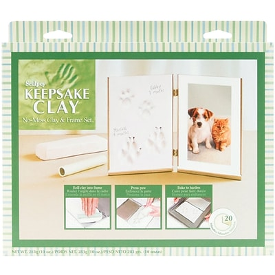 Polyform Sculpey Keepsake Clay Frame Set, Pet (White)