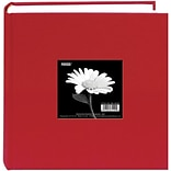 Pioneer Cloth Photo Album With Frame, 9 x 9, Apple Red