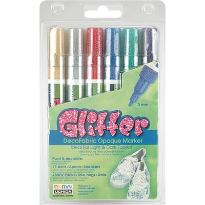 Uchida®  DecoFabric Markers, 3mm, Glitter