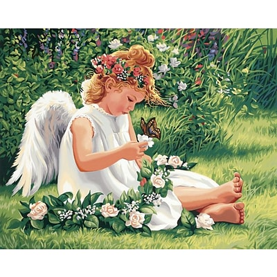 Dimensions Paint By Number Kit, 20 x 16, Darling Angel