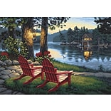 Dimensions Paint By Number Kit, 20 x 14, Adirondack Evening