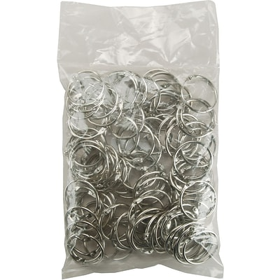 Clear Scraps Chrome Book Ring, 1.25, 100/Bag