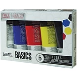 Reeves®  Liquitex Basics Acrylic Paint, 75ml/Tube 5/Pkg, Assorted Colors