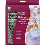 Loew-Cornell Acrylic Paints, 12ml, 24/Pkg, Assorted Colors