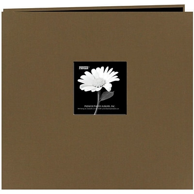 Pioneer Fabric Frame Scrapbook, 12 x 12, Warm Mocha