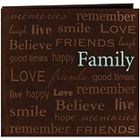Pioneer Text Faux Suede Scrapbook, 12 x 12, Family