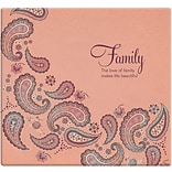 MBI Inspirations Paper Scrapbook, 12 x 12, Family Paisley-Peach
