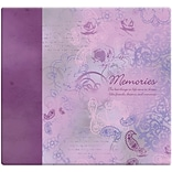 MBI Inspirations Paper Scrapbook, 12 x 12, Memories-Purple