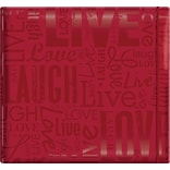 MBI Gloss Scrapbook, 12 x 12, Live Love Laugh-Red