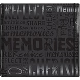 MBI Gloss Scrapbook, 12 x 12, Memories-Black