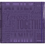 MBI Gloss Scrapbook, 12 x 12, Family-Purple