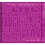 MBI Gloss Scrapbook, 12 x 12, Live Love Laugh-Bright Purple