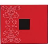 American Crafts® Patterned 3-Ring Album, 12 x 12, Crimson With Embroidered Flourish