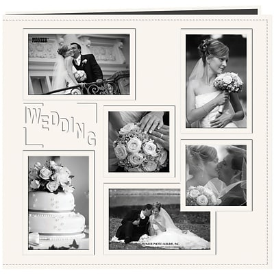 Pioneer Collage Frame Sewn Embossed Cover Postbound Album, 12\